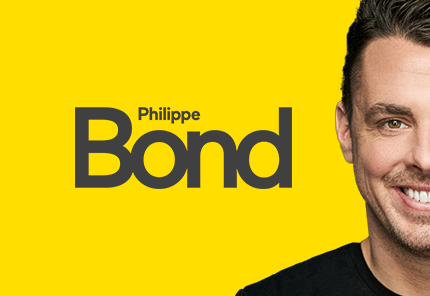 yellow background with smiling man philippe bond