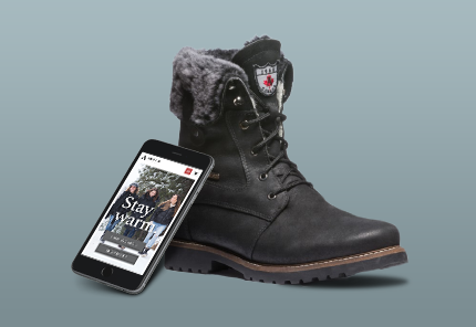 mens winter boot black